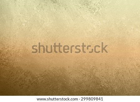 dull gold background with grunge border and distressed texture design - stock photo