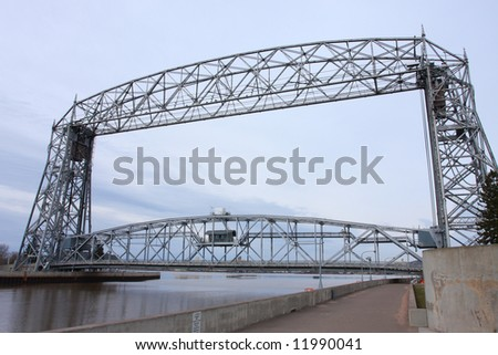 Duluth, MN Aerial Lift Bridge - stock photo