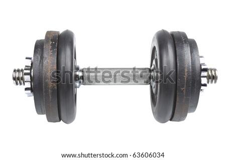 Dumb-bell closeup - stock photo