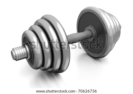 dumbbell isolated over white background