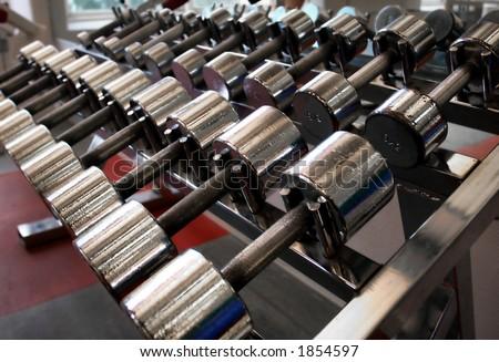 dumbbells - stock photo