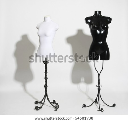 Dummies on a white background - stock photo