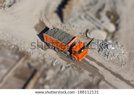 Dump the ground at the construction site - stock photo