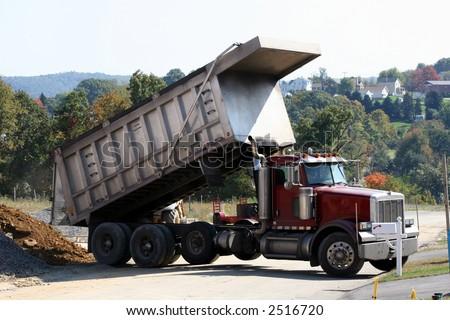 Dump Truck 1 - stock photo