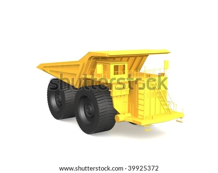 Dump truck isolated on white background