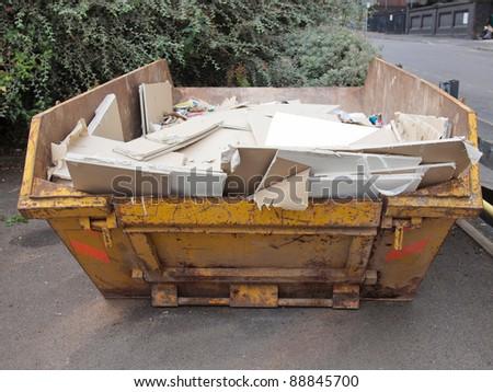 Dumper for construction and demolition material debris - stock photo