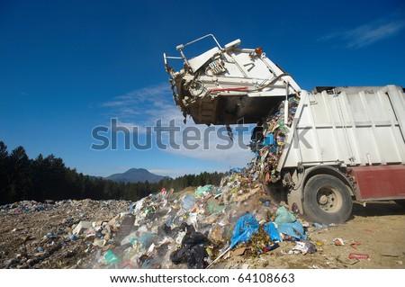 Dumping truck - stock photo