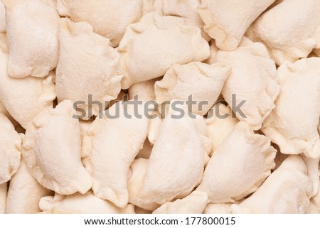 dumplings frozen - stock photo