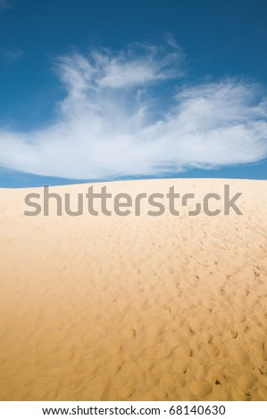 Dunas sobre cielo azul - stock photo