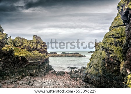 Dunbar Castle 'Ruins'and a view over East Lothian. Scotland