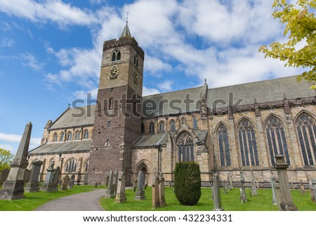Dunblane Cathedral near Stirling Scotland UK medieval church