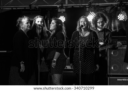 Dunderry ,Ireland-Sep 20th-The Inishowen Gospel Choir perform live at The Spirit of Folk Festival,Dunderry,County Meath on Sep 20th 2015 in Dunderry,Ireland