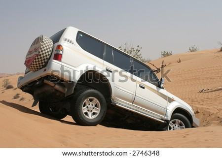 Dune Bashing - stock photo