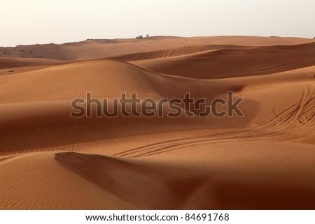 Dune bashing in Dubai, United Arab Emirates - stock photo
