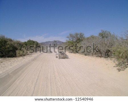 Dune buggies in the Baja