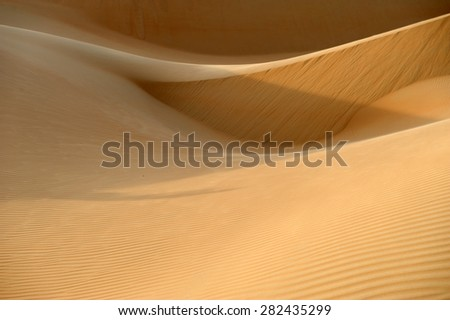 Dune desert , Abu Dhabi, UAE - stock photo