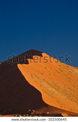dune in namibia - stock photo