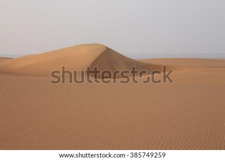 Dune in the Libyan desert, Egypt - stock photo