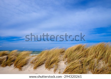 Dunes and sky - stock photo