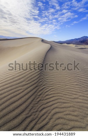 Dunes in Death Valley National Park - stock photo