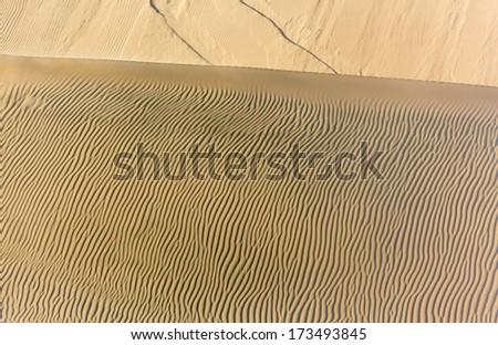 Dunes in the Atacama Desert - Oasis of Huacachina, Peru, South America - stock photo