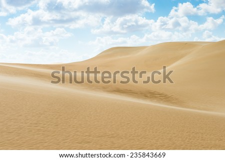 Dunes in the Sahara desert in Egypt - stock photo