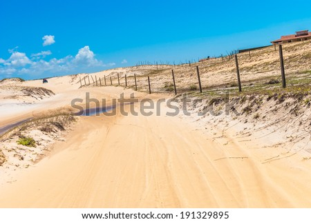 Dunes of Genipabu in Natal, Brazil - stock photo