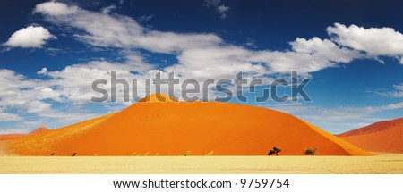 Dunes of Namib Desert - stock photo