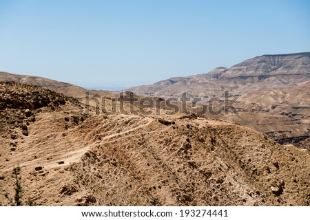 Dunes of the desert in Jordan