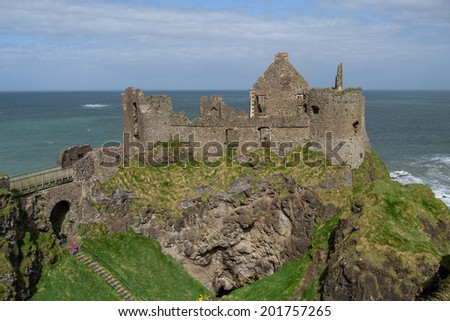 Dunluce Castle - stock photo