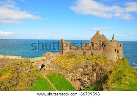 Dunluce Castle, Antrim - Ireland - stock photo