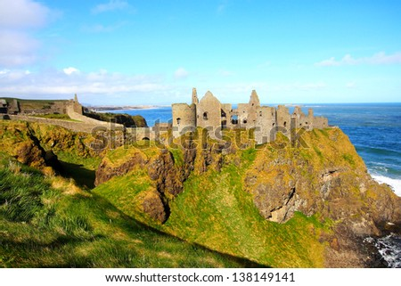 Dunluce Castle, Northern Ireland - stock photo