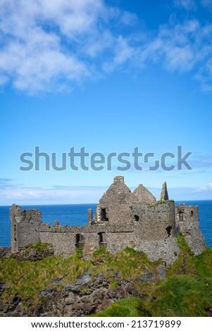 Dunluce Castle, Northern Ireland - stock photo