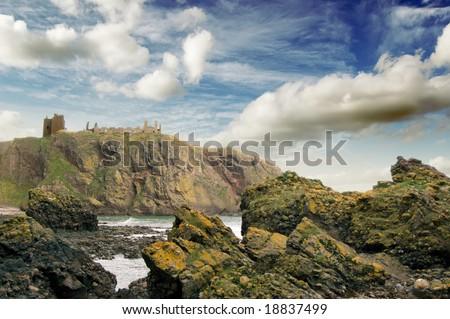 Dunnotar castle, Stonehaven - stock photo