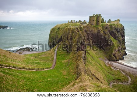 Dunnottar Castle, Scotland - stock photo