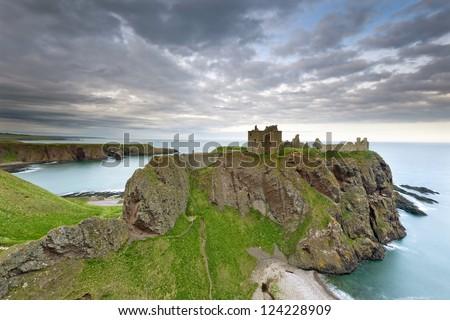 Dunnottar Castle, Scotland, Europe - stock photo