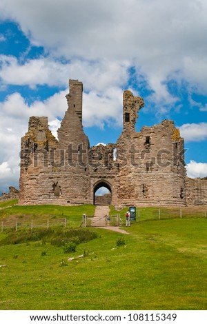 Dunstanburgh Castle - stock photo