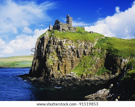 duntulm castle on the isle of skye in Scotland, Great Britain UK