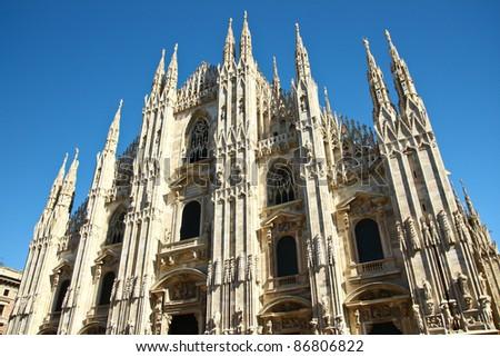 Duomo castle in Milan, Italy - stock photo