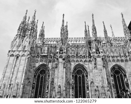 Duomo di Milano gothic cathedral church, Milan, Italy