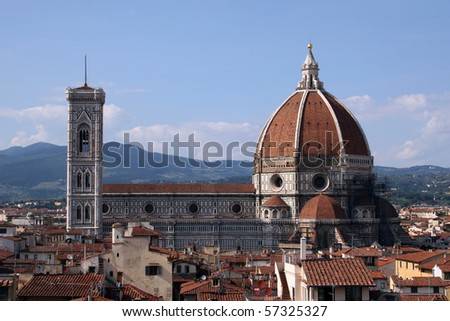 Duomo in Florence Italy - stock photo