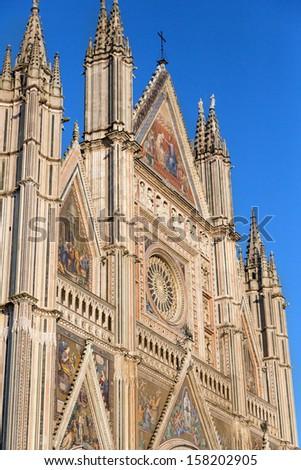 Duomo of Orvieto, (Orvieto Cathedral), Italy - stock photo