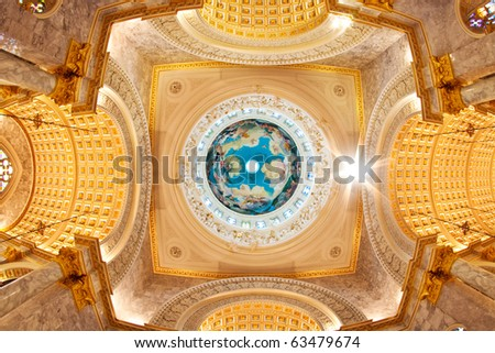 Duomo Santa Maria Del Fiore and Campanile. Florence. Inside Interior. Assumption University, Thailand - stock photo