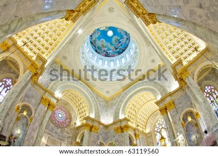 Duomo Santa Maria Del Fiore and Campanile. Florence. Inside Interior. Thailand - stock photo