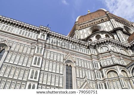 Duomo Santa Maria Del Fiore and Campanile, Florence, Italy - stock photo