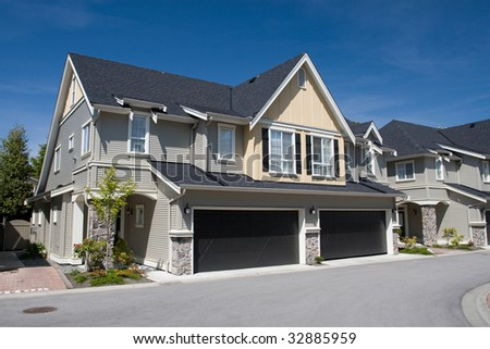 Duplex Housing - stock photo