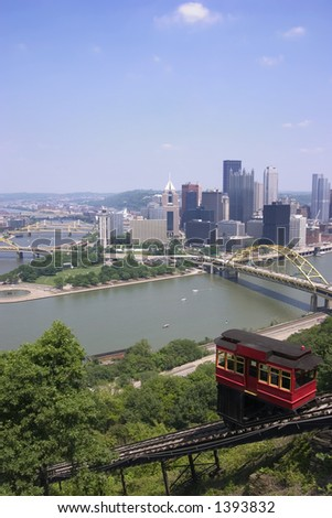 Duquesne Incline, Pittsburgh - stock photo