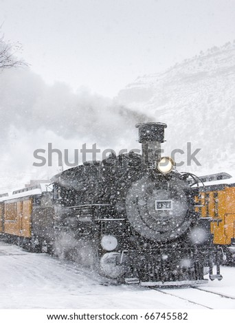 Durango and Silverton Narrow Gauge Railroad, Colorado, USA - stock photo
