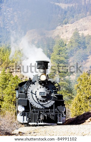 Durango   Silverton Narrow Gauge Railroad, Colorado, USA - stock photo
