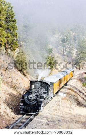 Durango   Silverton Narrow Gauge Railroad, Colorado, USA - stock photo